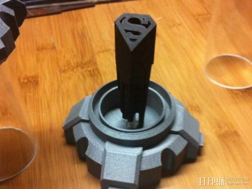 氪星人储能管 超人钥匙 3D模型  图1