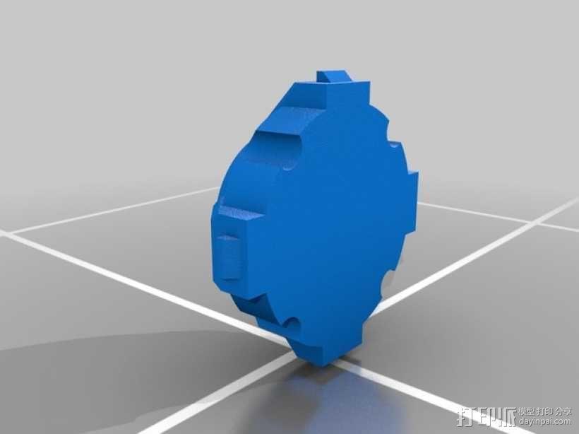 氪星人储能管 超人钥匙 3D模型  图2
