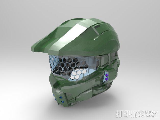 光晕4 头盔 3D模型  图2