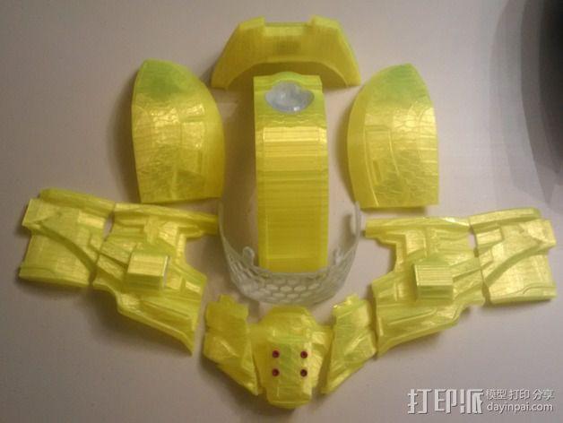 光晕4 头盔 3D模型  图4