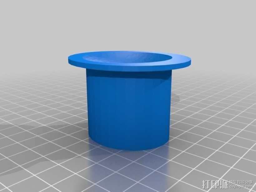 戴礼帽的章鱼 3D模型  图2