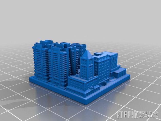城市上空的UFO 3D模型  图13