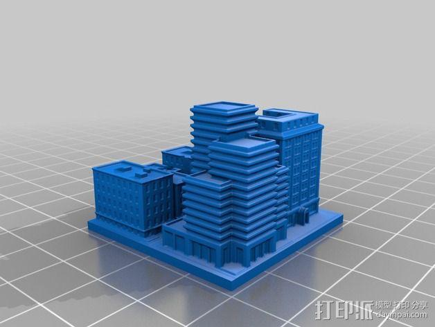 城市上空的UFO 3D模型  图14