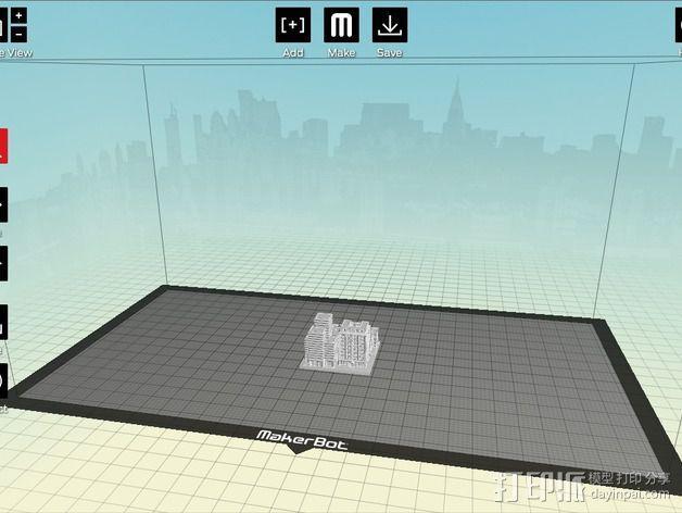 城市上空的UFO 3D模型  图17