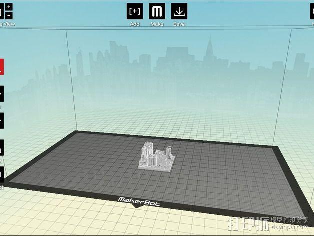 城市上空的UFO 3D模型  图18