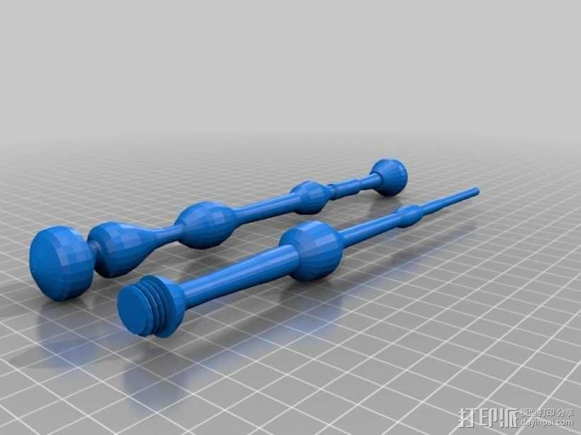 老魔杖 3D模型  图1