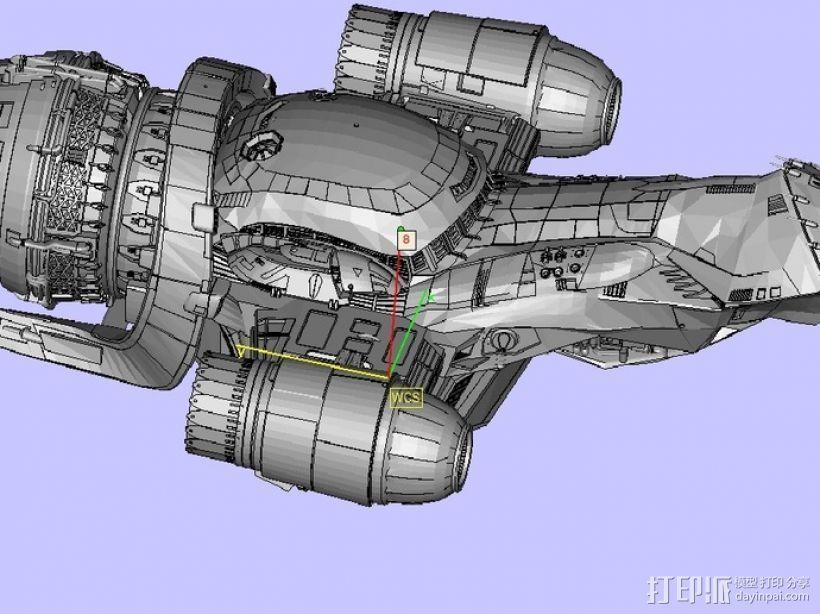 宁静号运输机 3D模型  图3