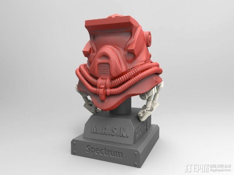 蒙面斗士的头盔 3D模型  图1