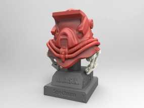 蒙面斗士的头盔 3D模型