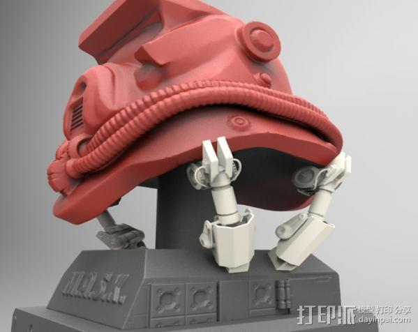 蒙面斗士的头盔 3D模型  图3