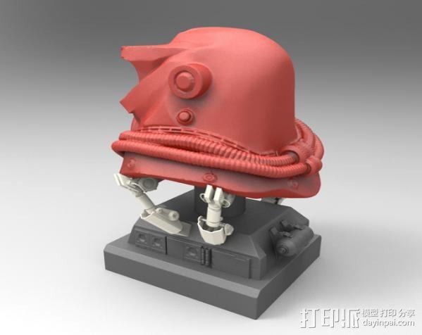 蒙面斗士的头盔 3D模型  图2