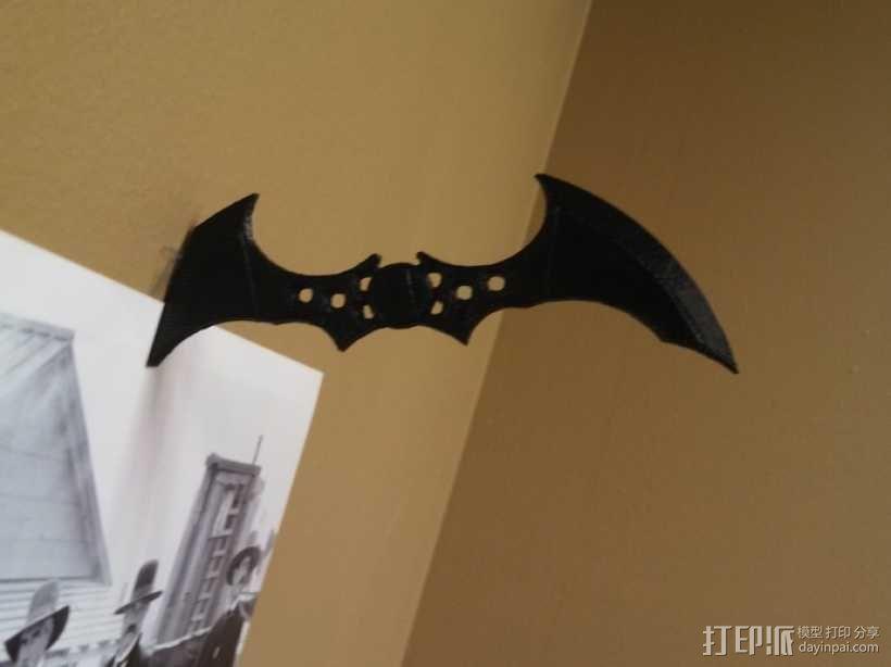 蝙蝠镖图钉 挂钩 3D模型  图1