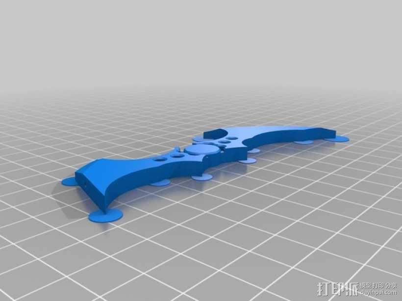 蝙蝠镖图钉 挂钩 3D模型  图2