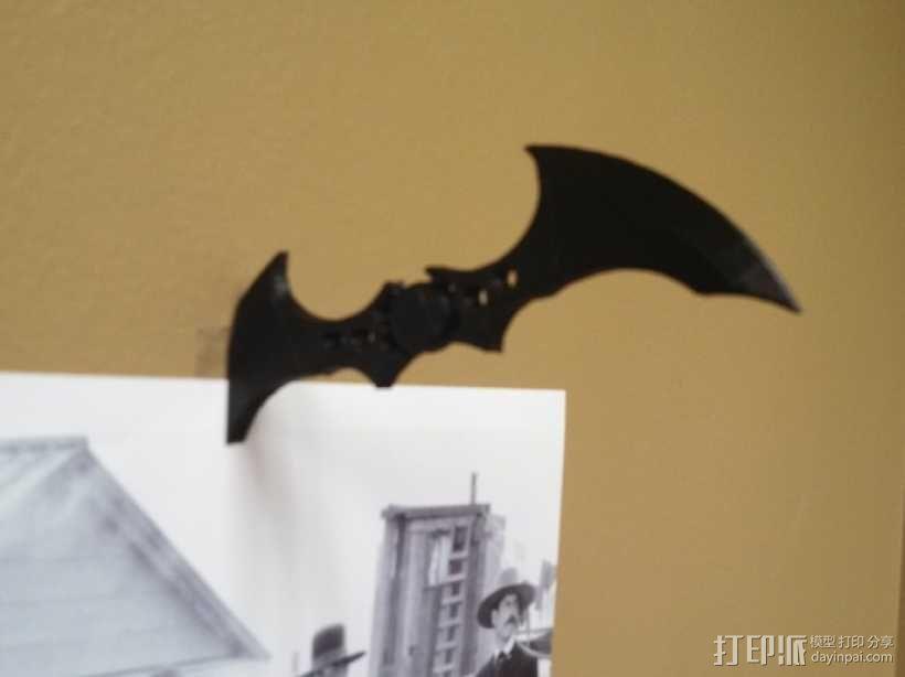 蝙蝠镖图钉 挂钩 3D模型  图3