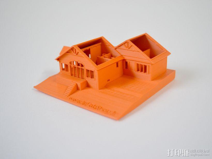 加拿大小屋 3D模型  图1