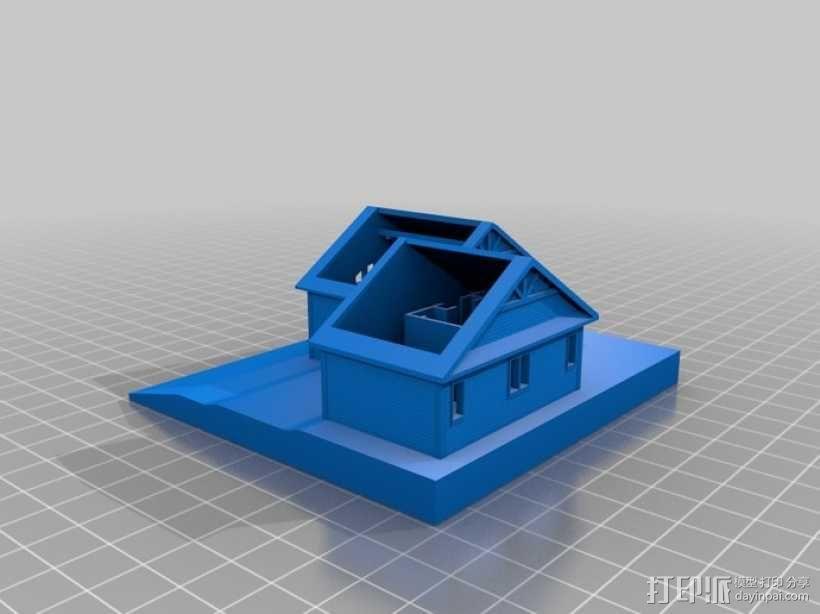 加拿大小屋 3D模型  图2