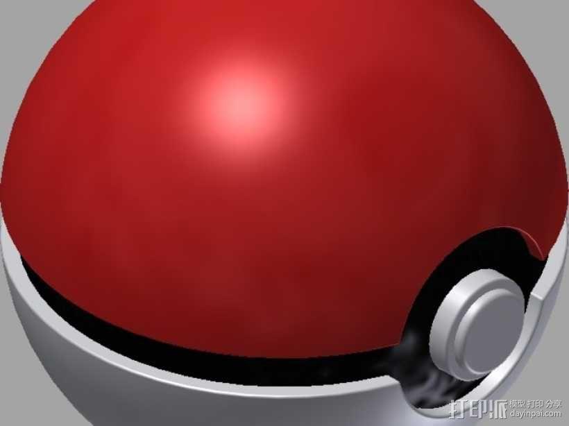 口袋妖怪 精灵球 3D模型  图1