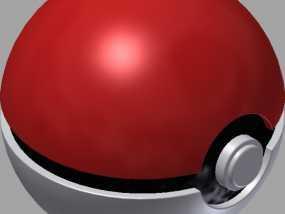 口袋妖怪 精灵球 3D模型