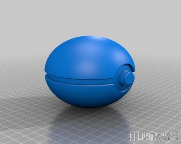 口袋妖怪 精灵球 3D模型  图3