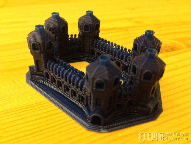 六塔城堡 3D模型  图2