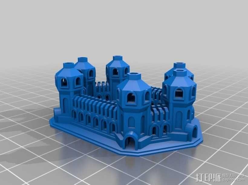 六塔城堡 3D模型  图1