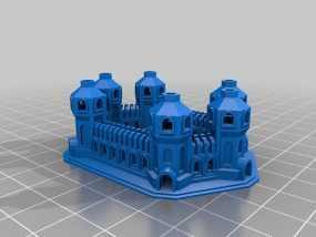 六塔城堡 3D模型