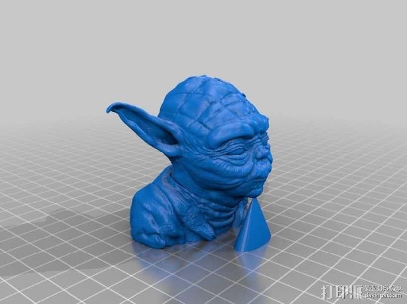 尤达大师雕塑 3D模型  图1