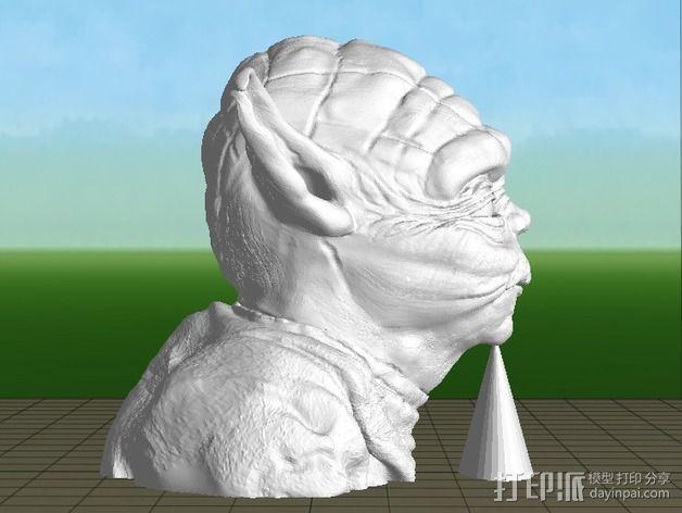 尤达大师雕塑 3D模型  图2