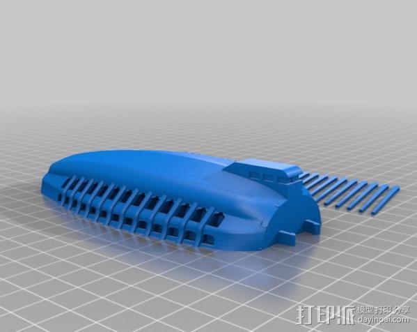 飞艇模型 3D模型  图3