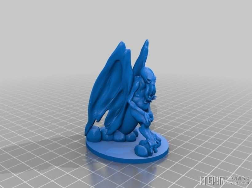 星之邪神克苏鲁 3D模型  图1