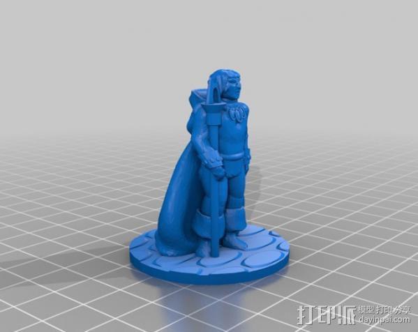 法师玩偶  3D模型  图2