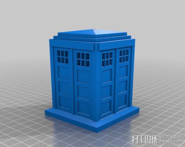 神秘博士警察亭 3D模型  图4