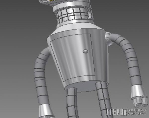 Bender机器人 3D模型  图2