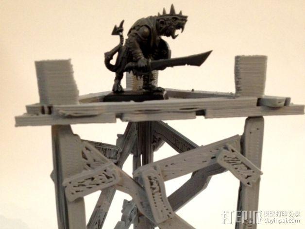 野蛮人的瞭望塔 3D模型  图7