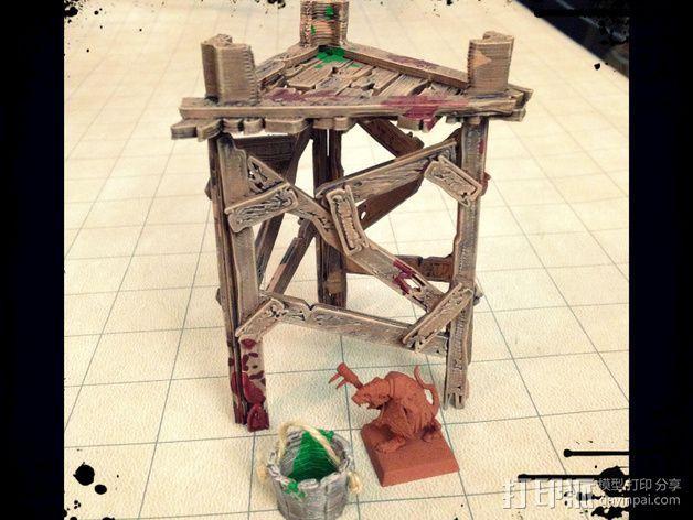 野蛮人的瞭望塔 3D模型  图8