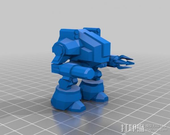 坦克世界 迷你机器人 3D模型  图2