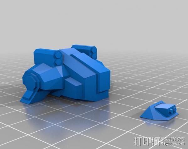 坦克世界 迷你机器人 3D模型  图4