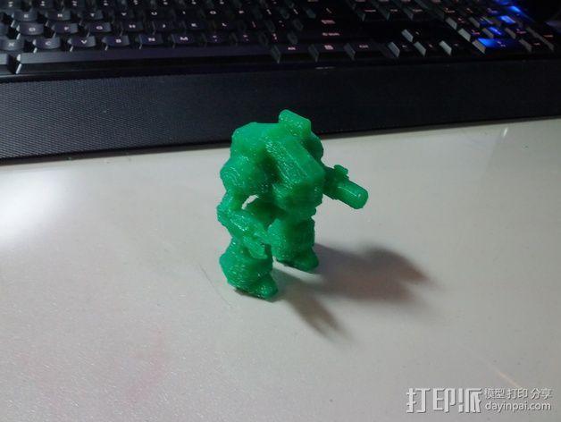 坦克世界 迷你机器人 3D模型  图8