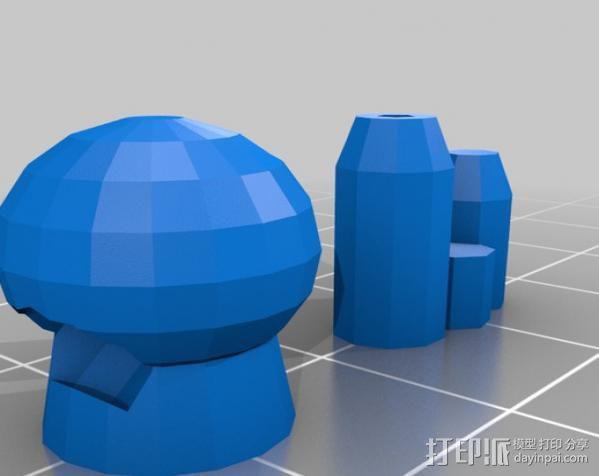坦克世界 迷你机器人 3D模型  图14