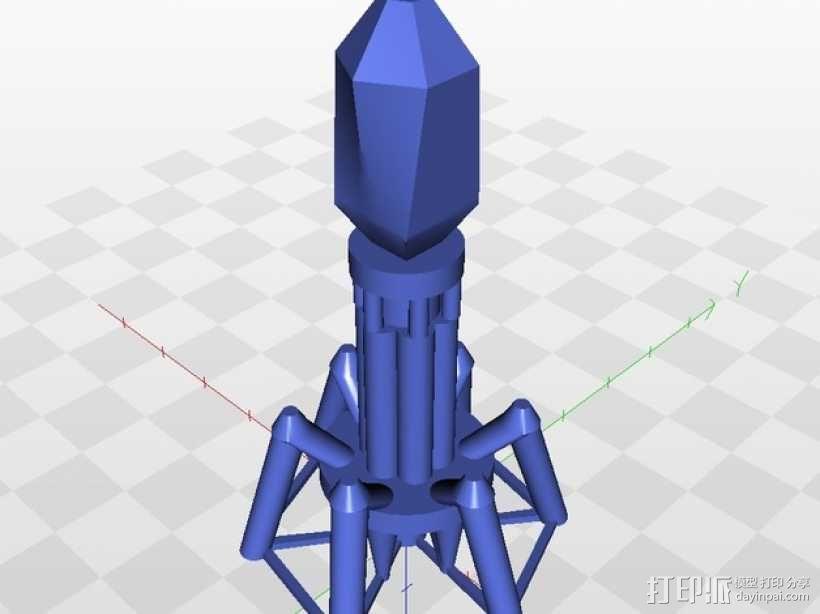 噬菌体病毒模型 3D模型  图1