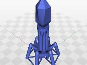 噬菌体病毒模型 3D模型