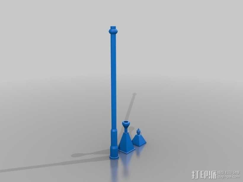 路灯 3D模型  图1