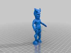 魔鬼宝宝 3D模型