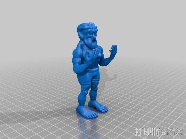 魔像石人 3D模型  图1