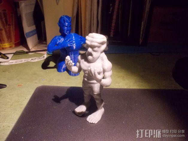 魔像石人 3D模型  图5