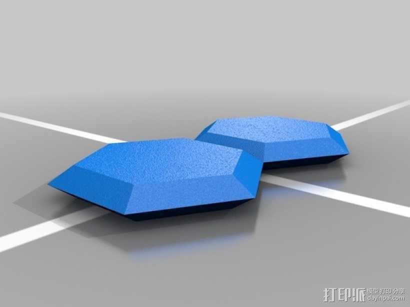六边形宝石 3D模型  图1