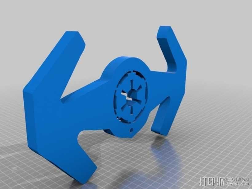 钛战机标志钥匙扣 3D模型  图1