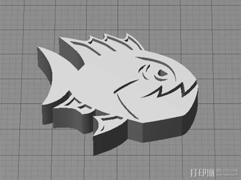愤怒的鱼 3D模型  图1