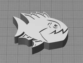 愤怒的鱼 3D模型