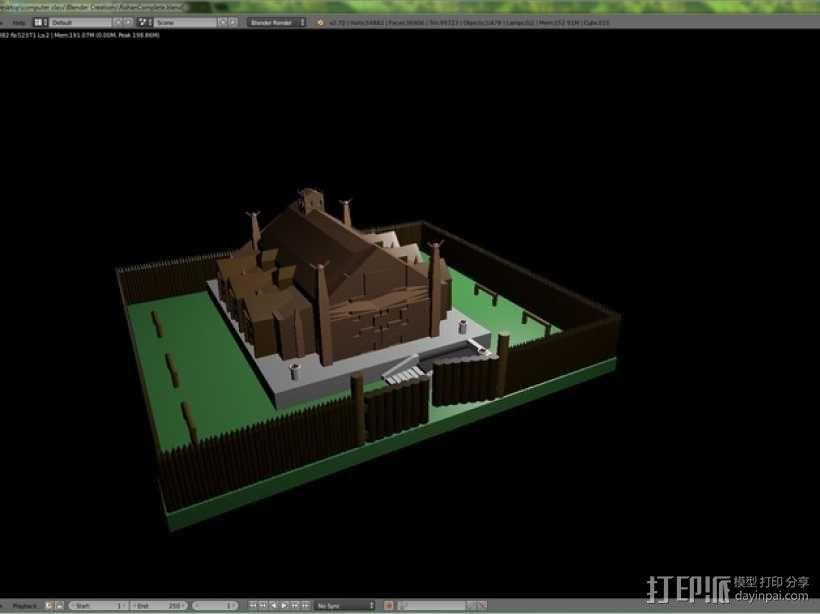 Rohan庄园 3D模型  图1